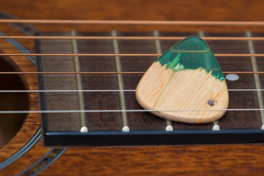 Resin And Wood Guitar Pick Electric Guitar Design Wood Resin