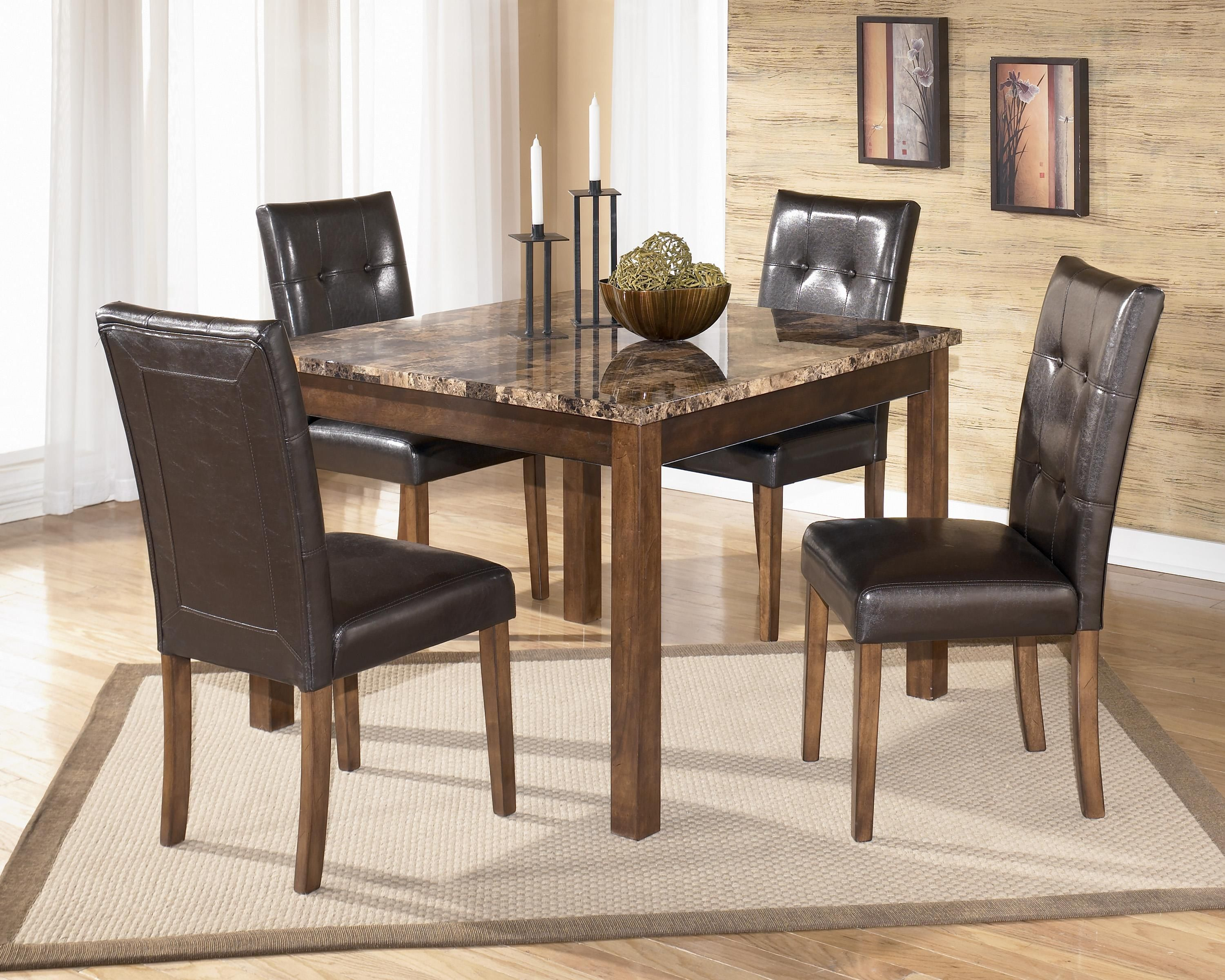 Merveilleux Signature Design By Ashley Theo 5 Piece Square Table Set   Item Number:  D158
