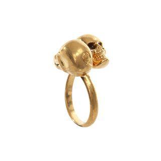 ALEXANDER MCQUEEN, Ring, Twin skull Ring