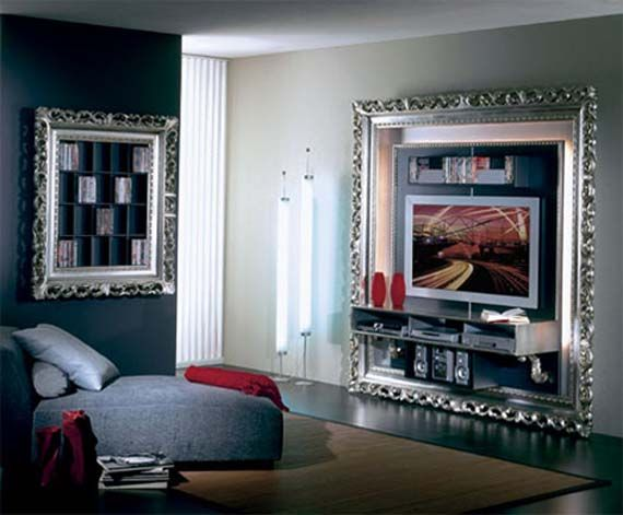 art deco flat tv frame design