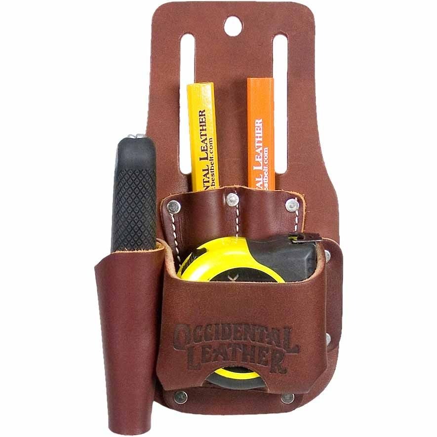 Leather Wall Equipment Holder: Occidental Leather 5047 Tape & Knife Holder