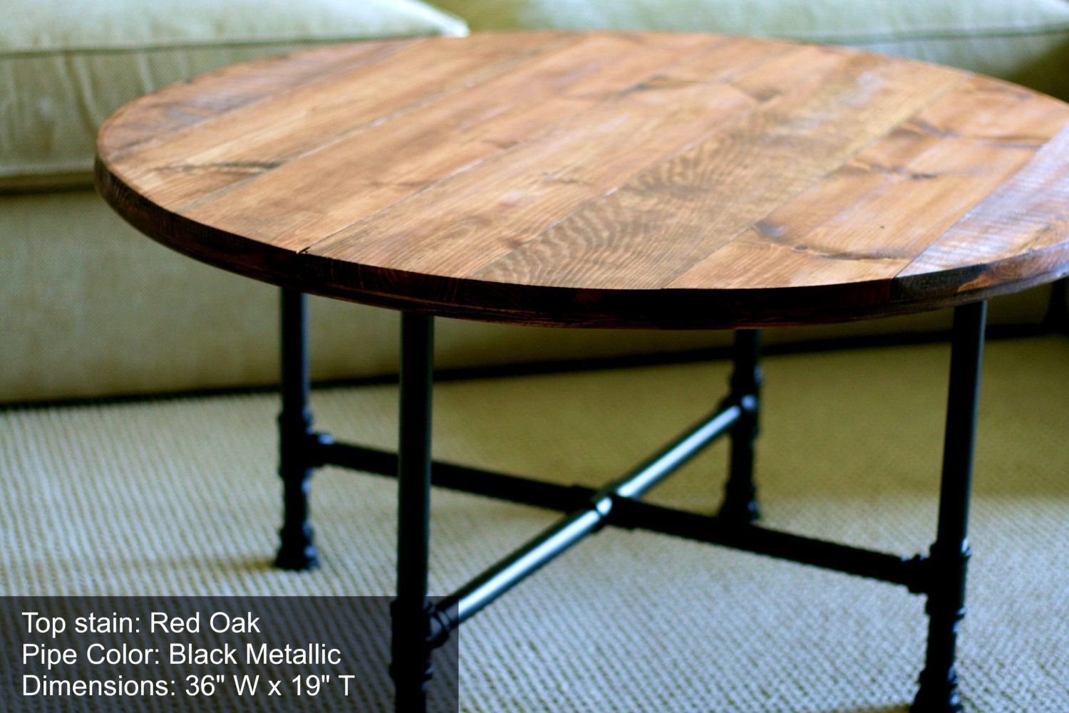Amazing Of Distressed Round Coffee Table With Fresh Idea To ...