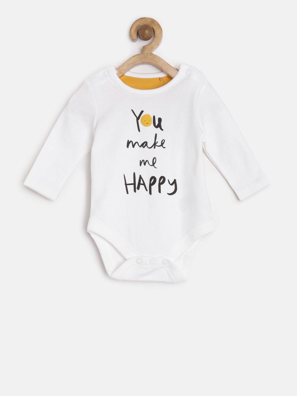 Mothercare Kids White Cotton Printed Bodysuit White Cotton Printed Long Sleeve Round Neck Print Bodysuit Bodysuit Online Bodysuit