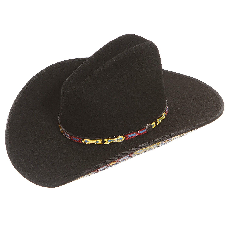 1c18eba887ab6 Charlie 1 Horse Aztec Black Felt Cowboy Hat
