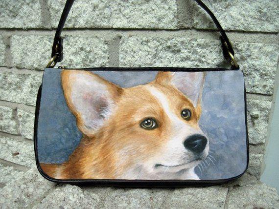Dog Pembroke Welsh Corgi Leather Sling Bag /& Women/'s Handbag