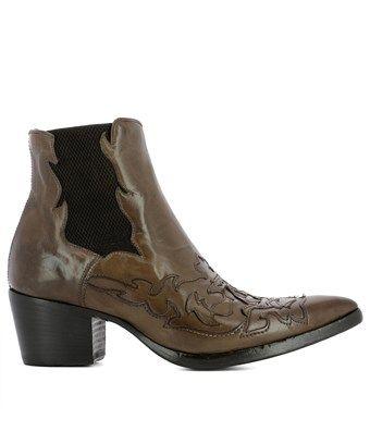 ALBERTO FASCIANI ALBERTO FASCIANI WOMEN'S BROWN LEATHER ANKLE BOOTS.  #albertofasciani #shoes #