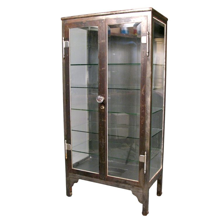 Antique Steel Glass Apothecary Cabinet Apothecary Cabinet Antiqued Steel Modern Houses Interior