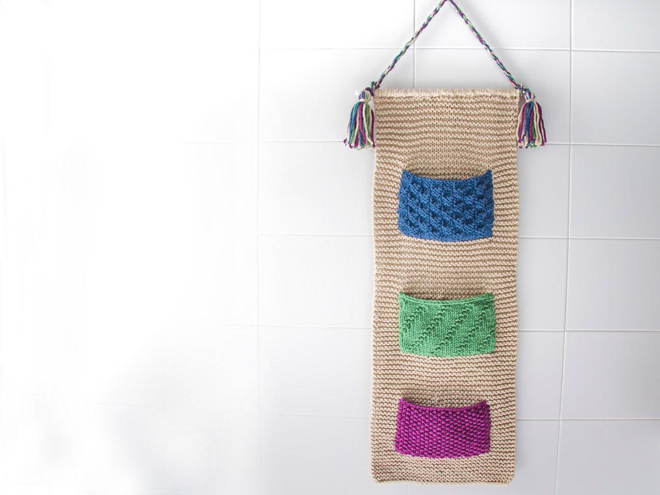 Bolsa para el baño tricotada con Rubí Deco | Bolsos de ...