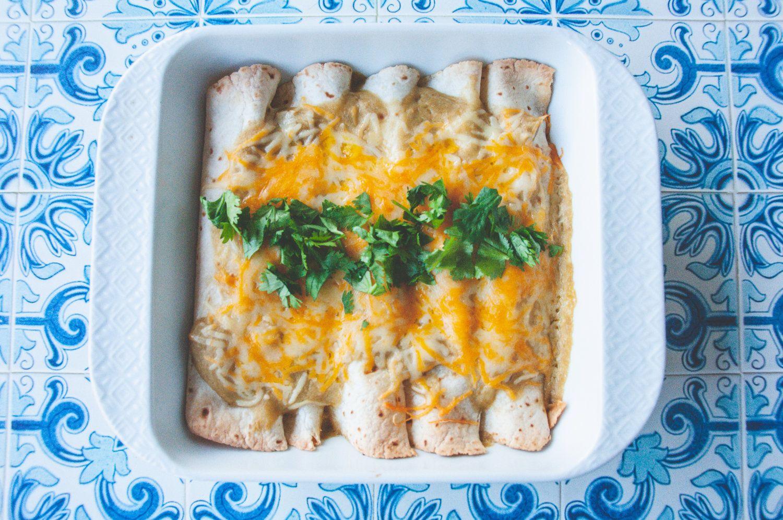 Gluten free green chile chicken enchiladas green chile