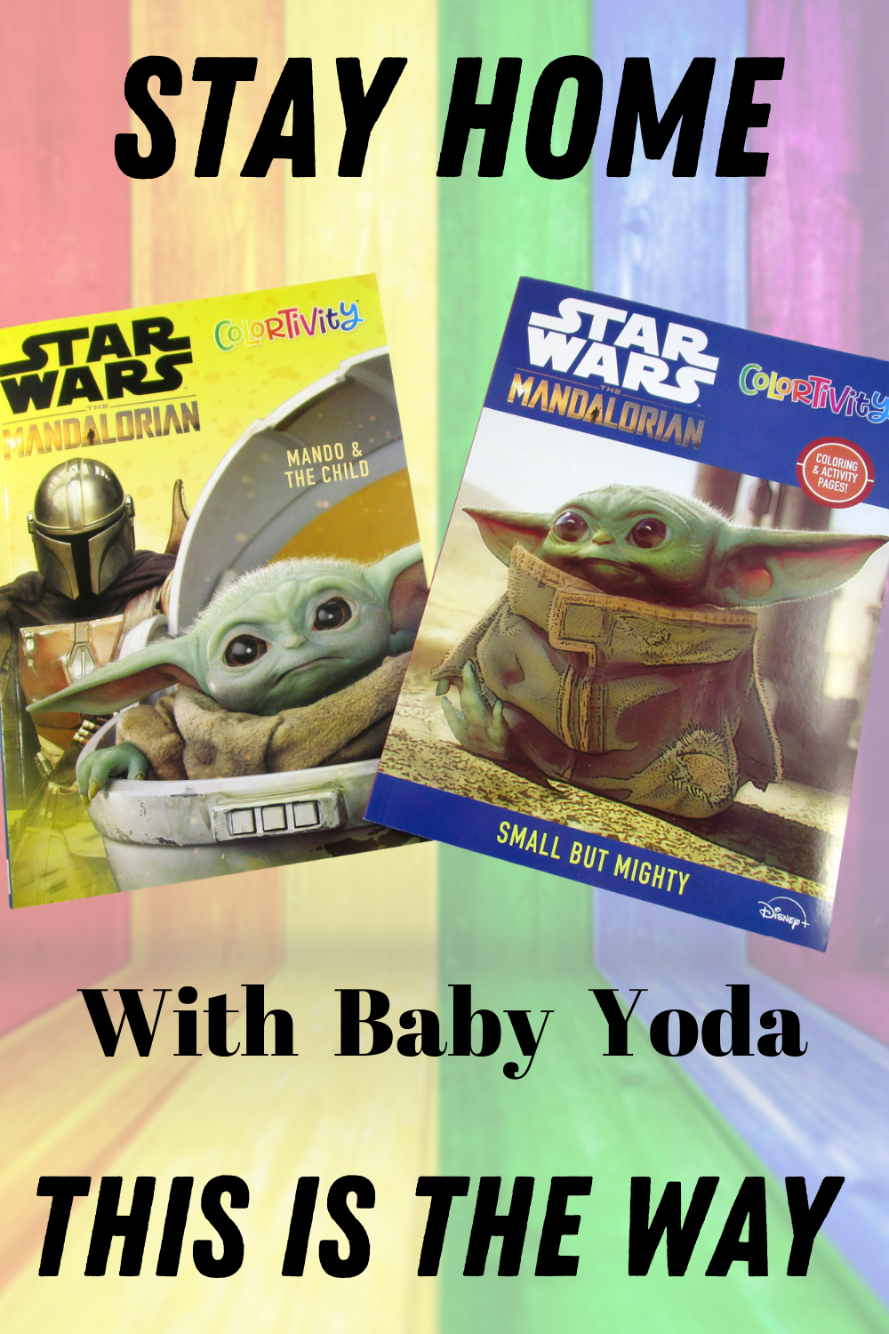 Lot of 2 Star Wars Mandalorian Baby Yoda Coloring Activity