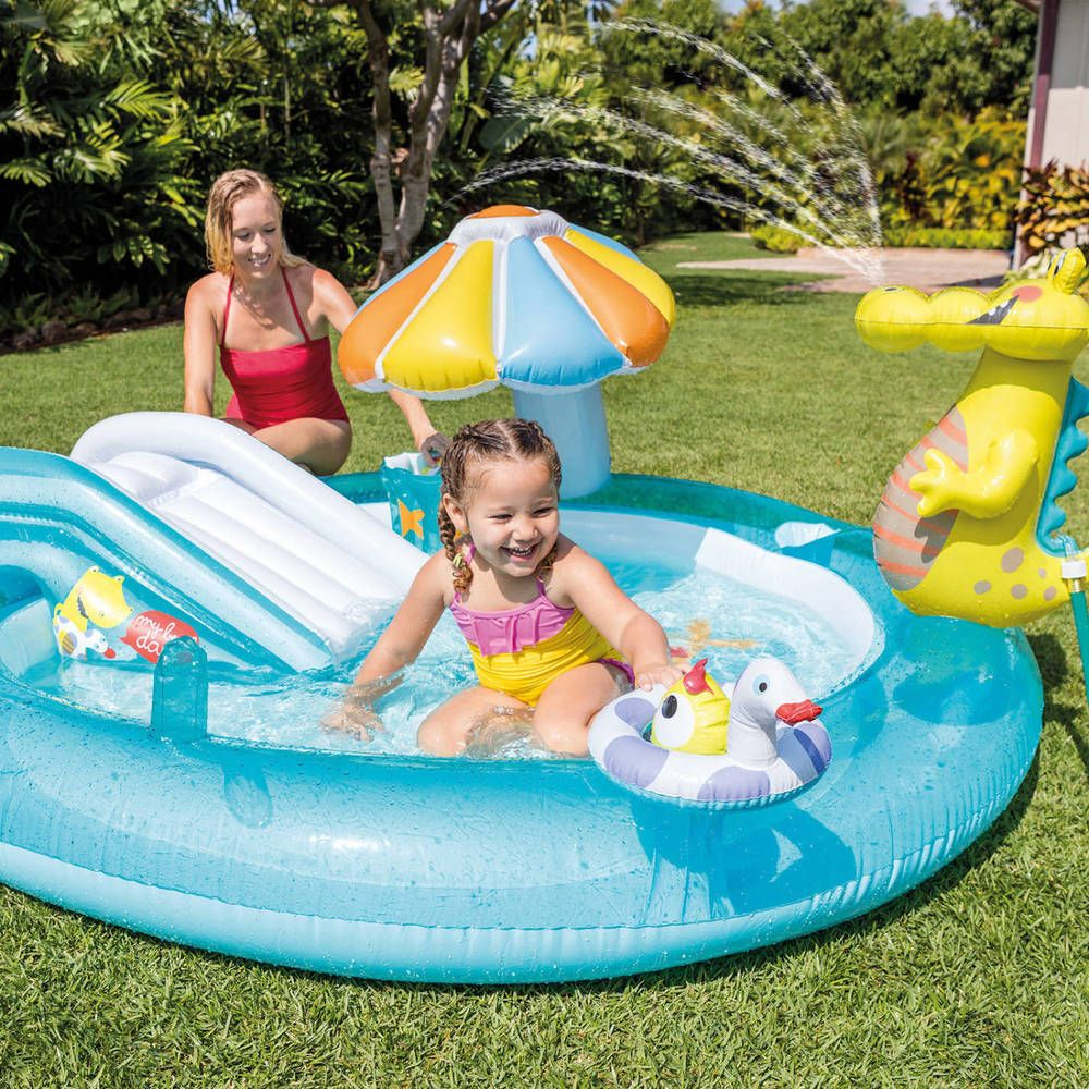 Kids Swimming Pool Inflatable Gator Outdoor Garden Home Play Center With Sprayer Intex Children Swimming Pool Splash Pool Baby Pool