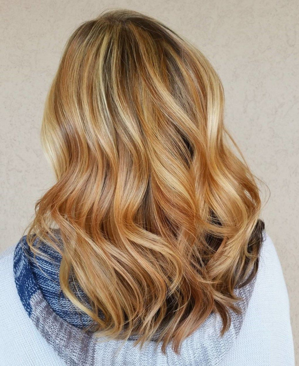 Red Highlights Ideas for Blonde, Brown and Black Hair |Red Brown Hair Color With Blonde Highlights