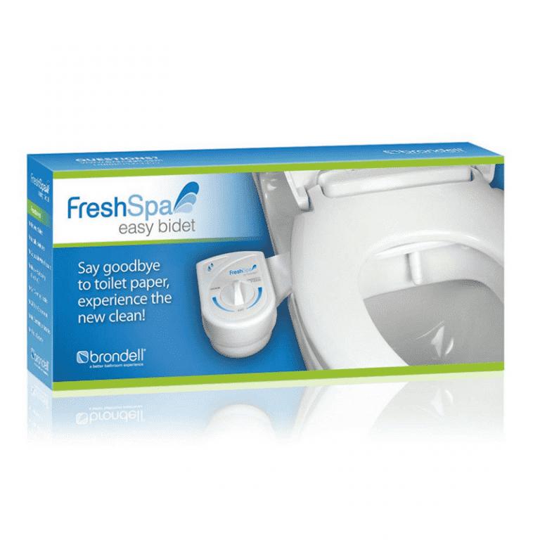 Brondell Freshspa Easy Bidet Toilet Attachment White Bidet