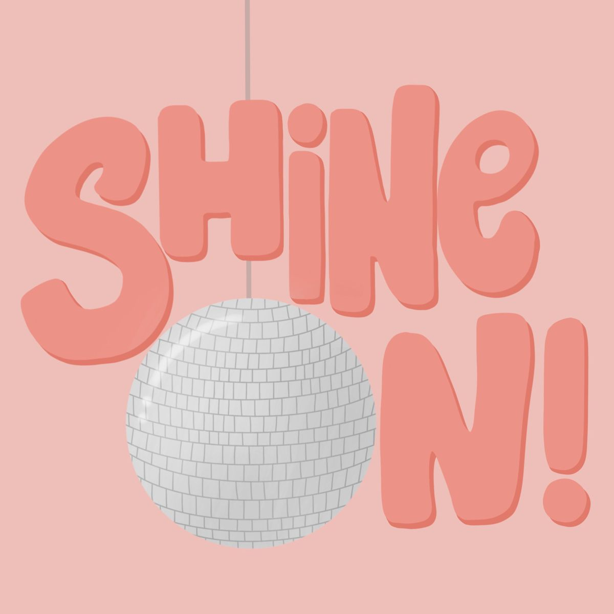 CLARE MITCHELL DESIGNS⭐️ use code: CMDESIGNS10 for 10% off! #discoball #illustration #etsy #etsyshop #etsyseller