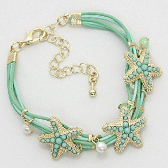 "Sale $9.01 @cybermonday #cybermonday  Click to take the link to purchaseStarfish Bracelet Multi Strand Pearl Color : Gold / Mint • Size : 5/8"" H, 6 1/2 + 2"" L • Multi Strand Pearl Starfish Bracelet WT001 http://www.amazon.com/dp/B00I5UZEIU/ref=cm_sw_r_pi_dp_P7gFub1Z3TA86"