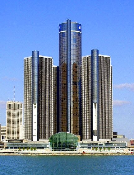 Detroit Mi The Renaissance Center Is General Motors World