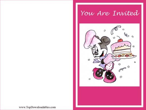 Disney Minnie Mouse invitation template and kits for theme party ...