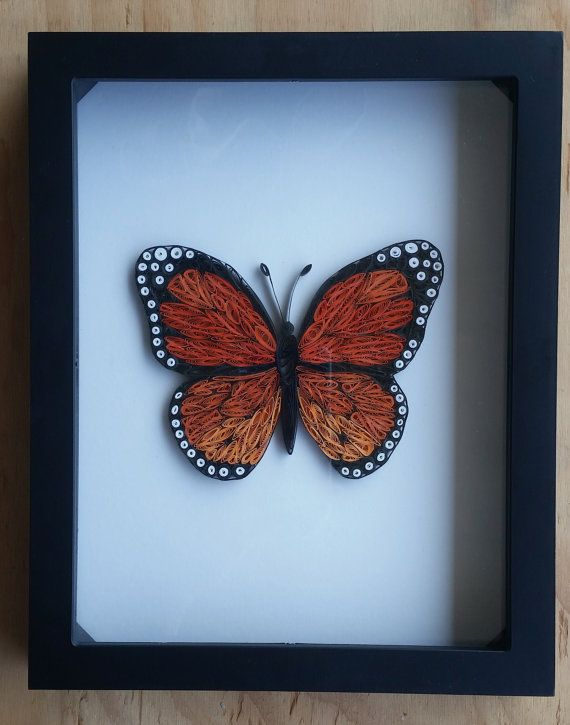 Hey, I found this really awesome Etsy listing at https://www.etsy.com/listing/230057310/paper-quilled-butterfly-framed-8x10