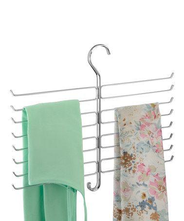 This Chrome Tiered Scarf Hanger Is Perfect Zulilyfinds Closet Rod Closet Organization