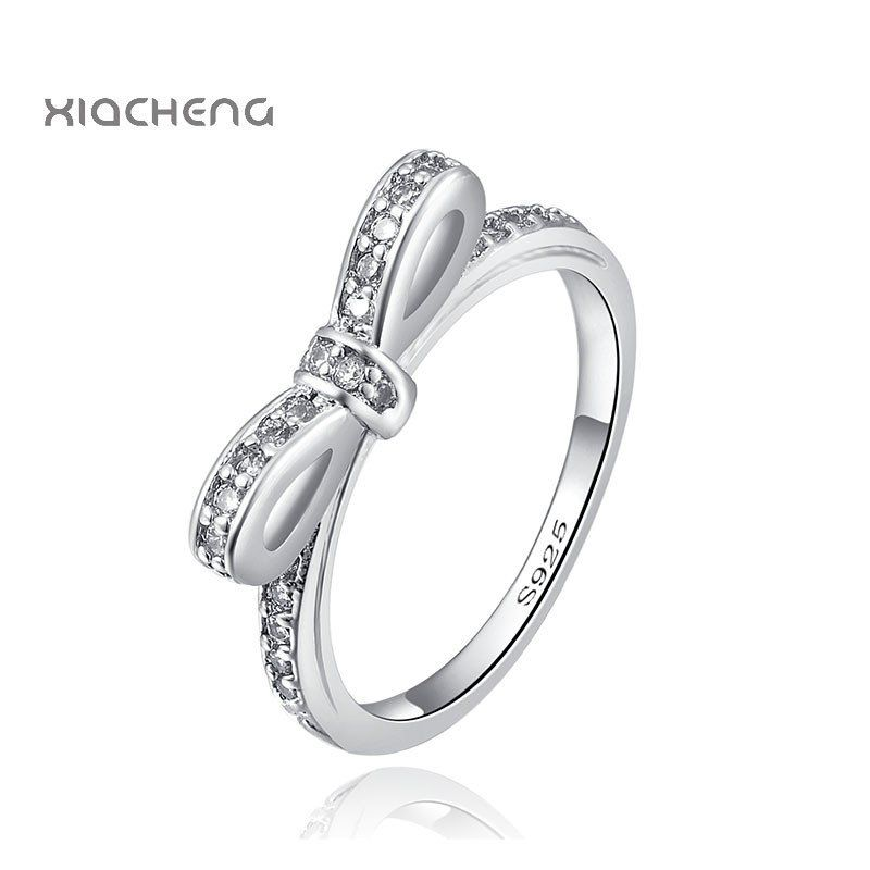 2ce6c5b07 ... low price silver bow butterfly pandora ring with crystal on bow. very  cheap view to ...