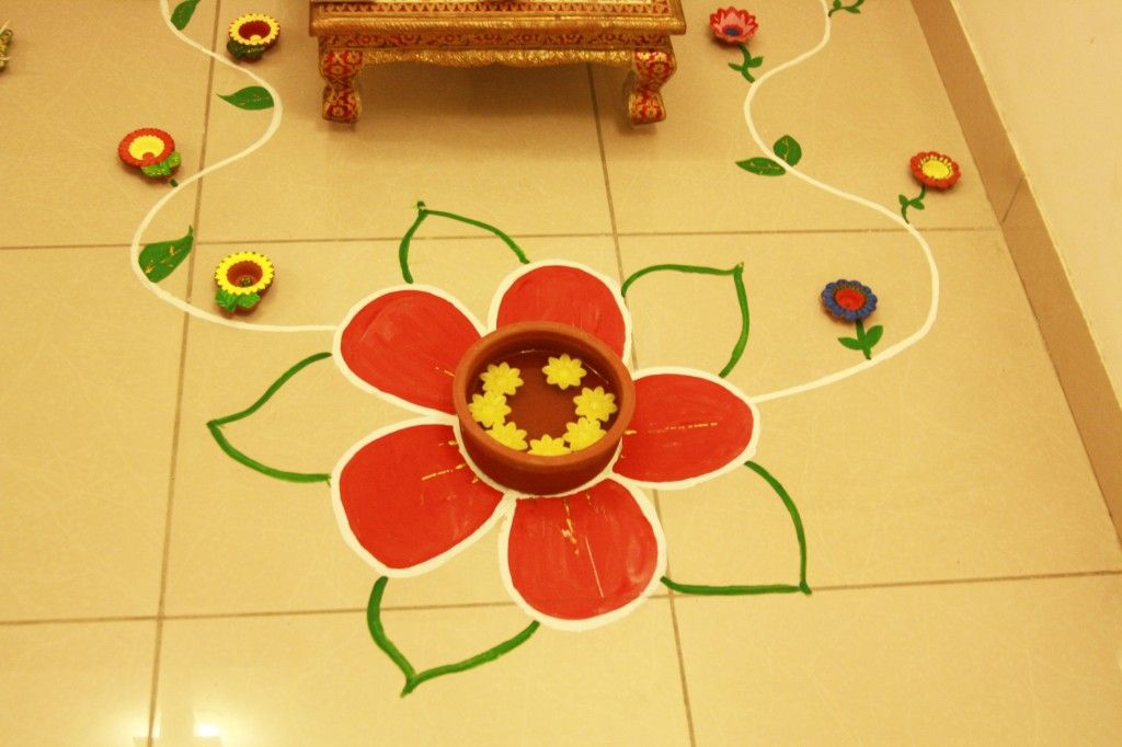 Diwali Decoration Tips And Ideas For Home Part - 32: Happy Diwali, Diya Decoration, Rangoliwhatscookingmom.in