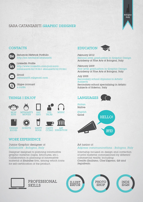 25 great high quality and modern examples of creative cv resume