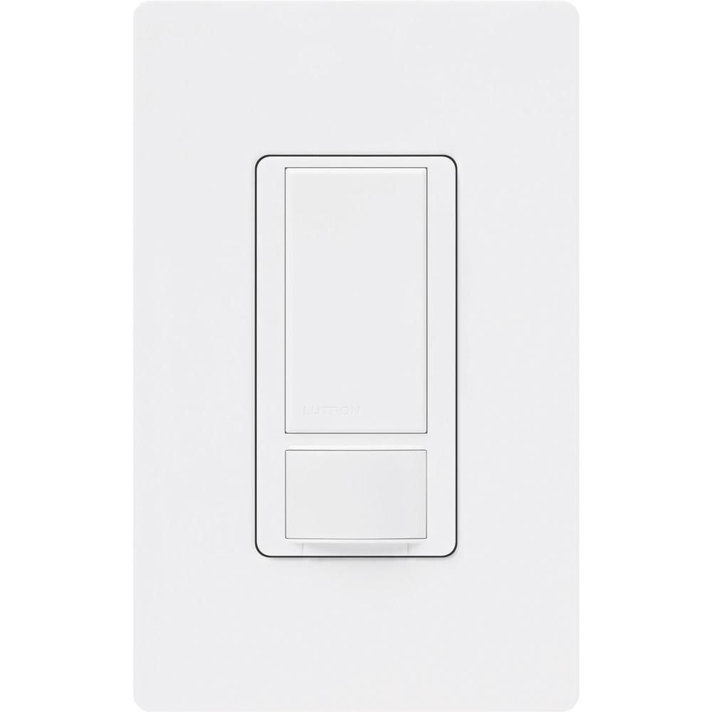 Lutron Maestro Motion Sensor Switch With Wallplate 2 Amp Single Pole White Ms O2s Whw The Home Depot Lutron Energy Saving Solutions Motion Sensor