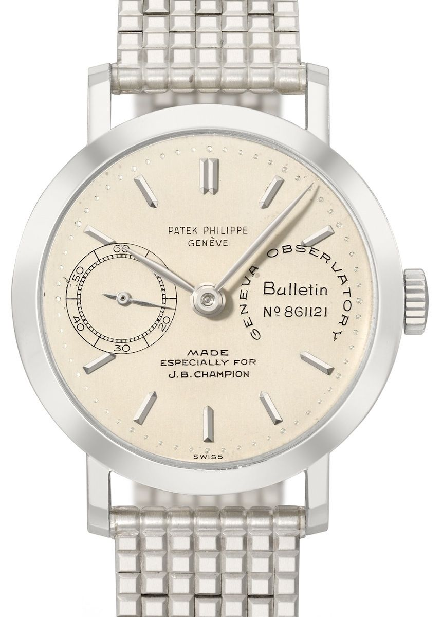 Patek Philippe Reference 2458 Observatory Chronometer for J.B. Champion -  $3,992,858