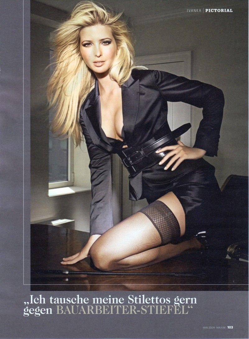 Here's Ivanka Trump, also one of my icons. I love the combination of sexy