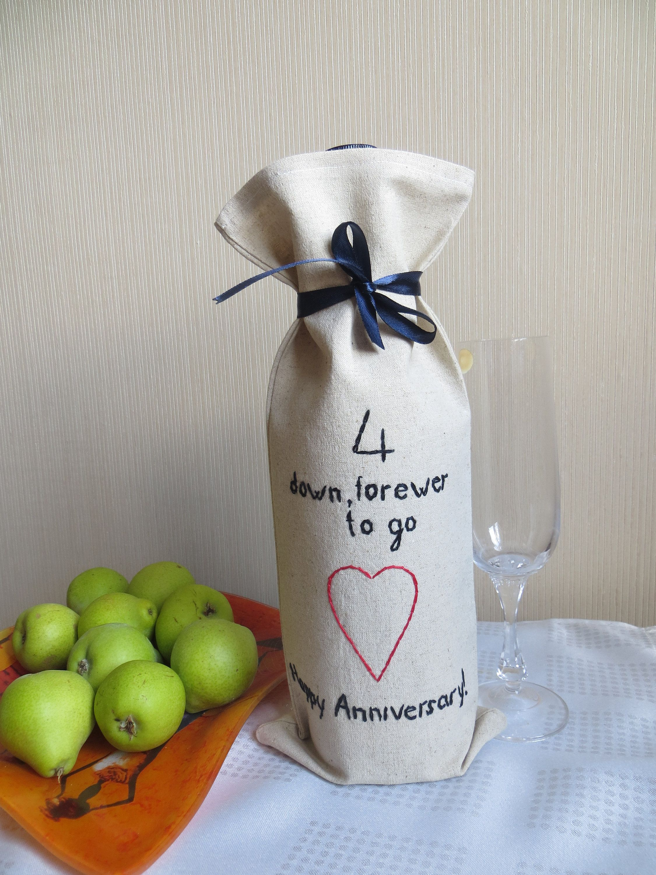 4th Wedding Anniversary Gift For Him Linen Gifts Men 4th