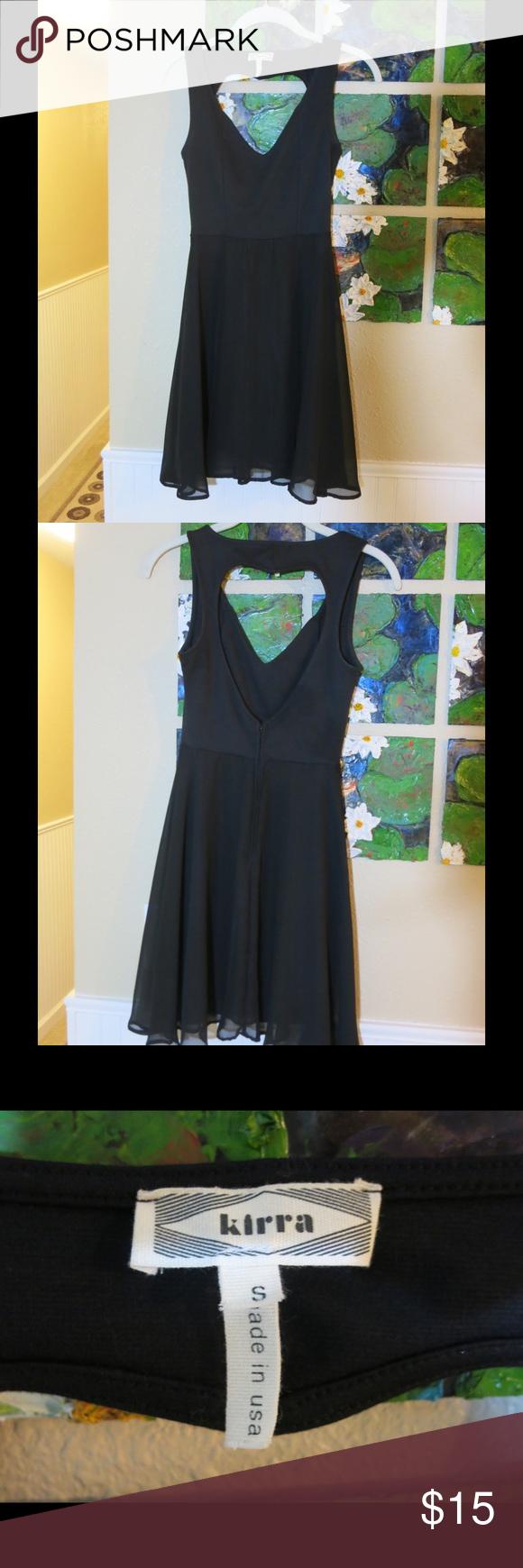 Kirra cutout heart dress black