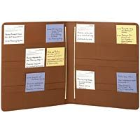 3 X 5 Action Folio Letter Leather Folio Index Card Holder Index Card Organizer Index Card Holders Index Cards Lettering