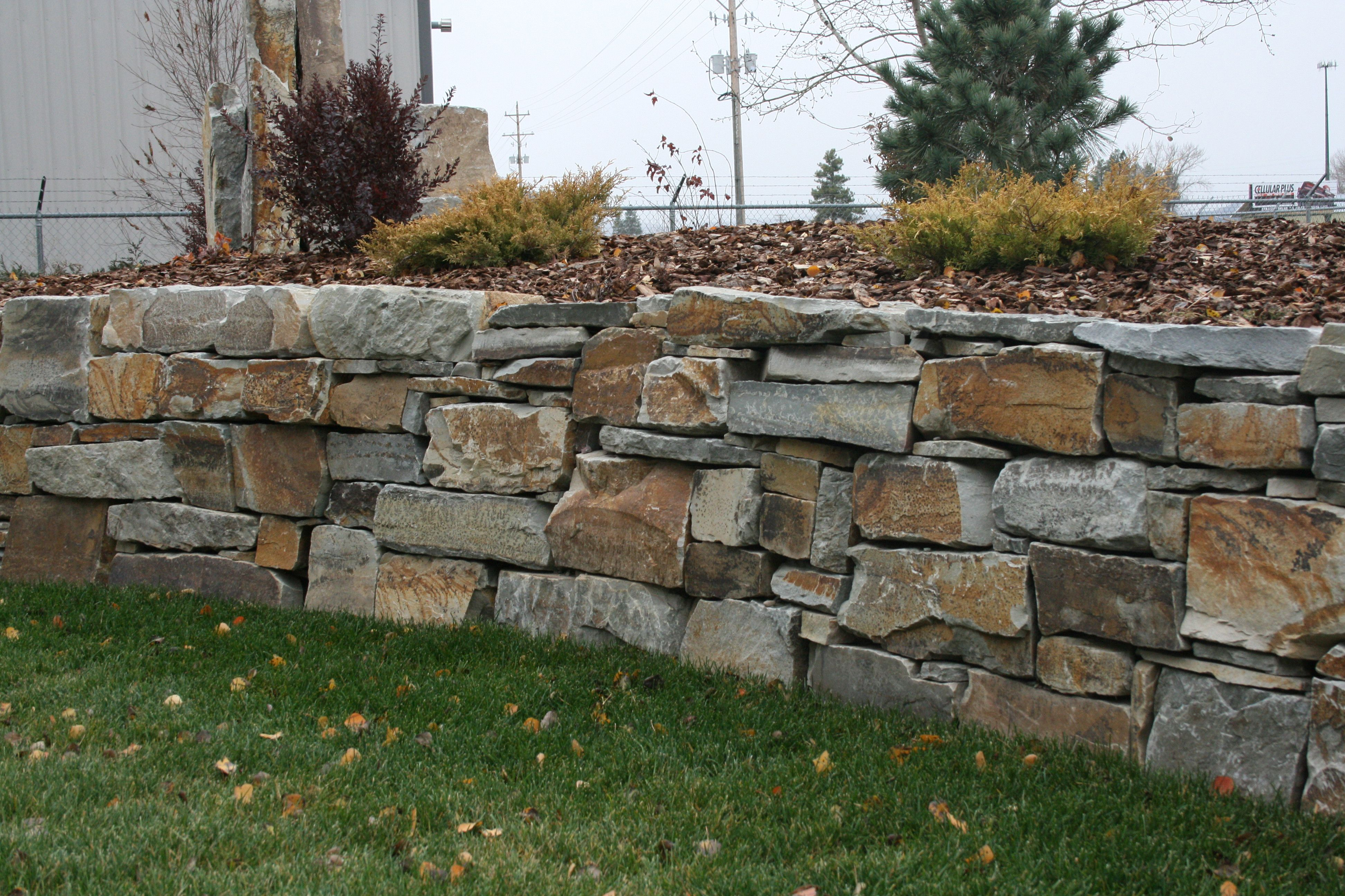Chief Cliff Drystack Garden Wall From Montana Rockworks Design