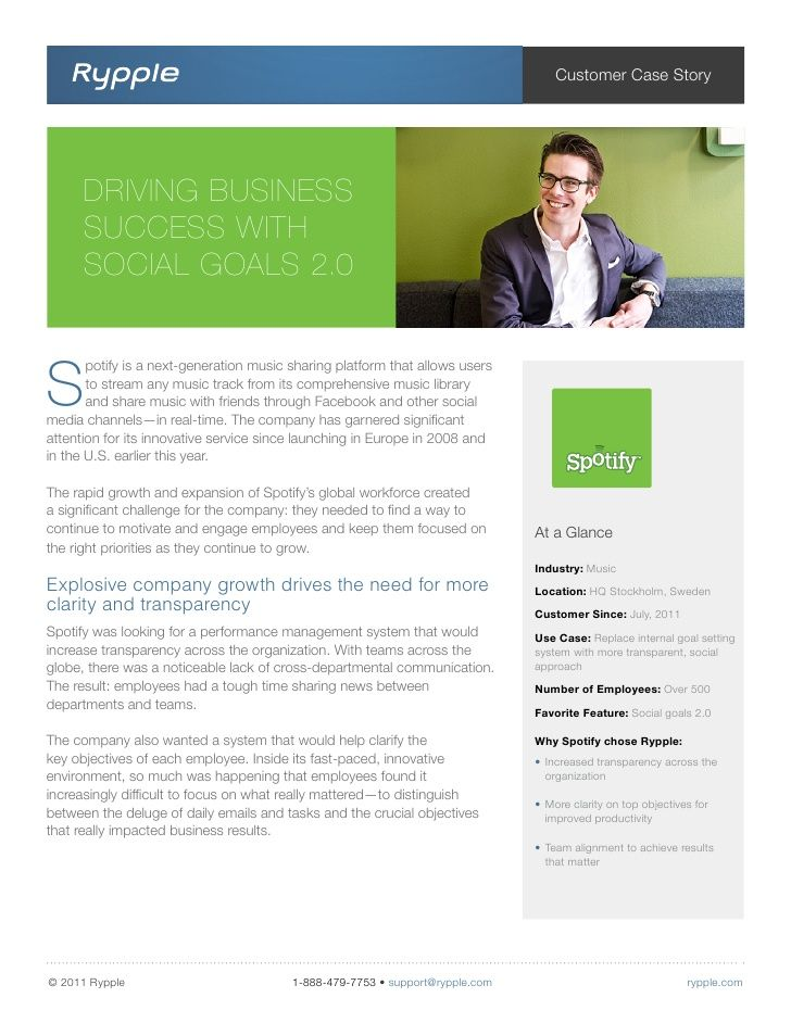 See How Spotify Has Used Rypple To Manage And Motivate Employees With Social Goals Rypple Help How To Motivate Employees Marketing Jobs Innovative Services