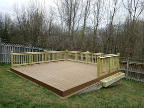 How To Build A Diy Floating Deck In A Sloped Backyard Sloped Backyard Floating Deck Decks Backyard