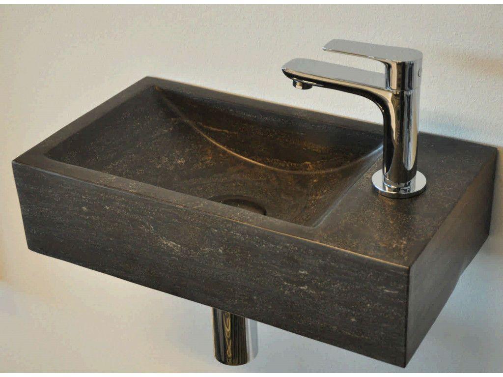 Fontein Natuursteen Toilet : Sanimoodz hardsteen fontein rechts cm natuursteen zwart