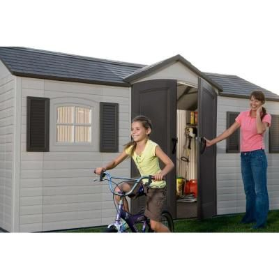 Lifetime 15 Ft X 8 Ft Outdoor Garden Shed 6446 The Home Depot Outdoor Storage Sheds Outdoor Garden Sheds Garden Storage Shed