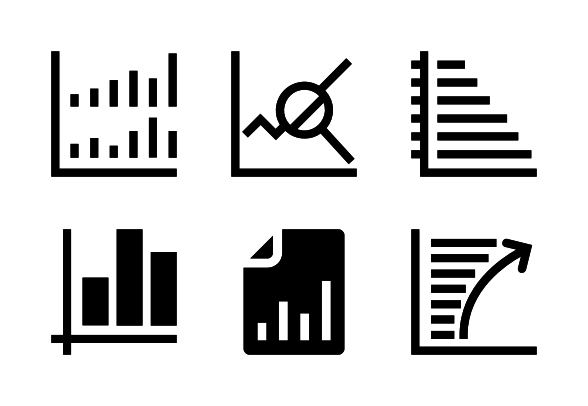 Reports And Analytics Icons By Graphic Mall In 2020 Graphic Analytics Icon