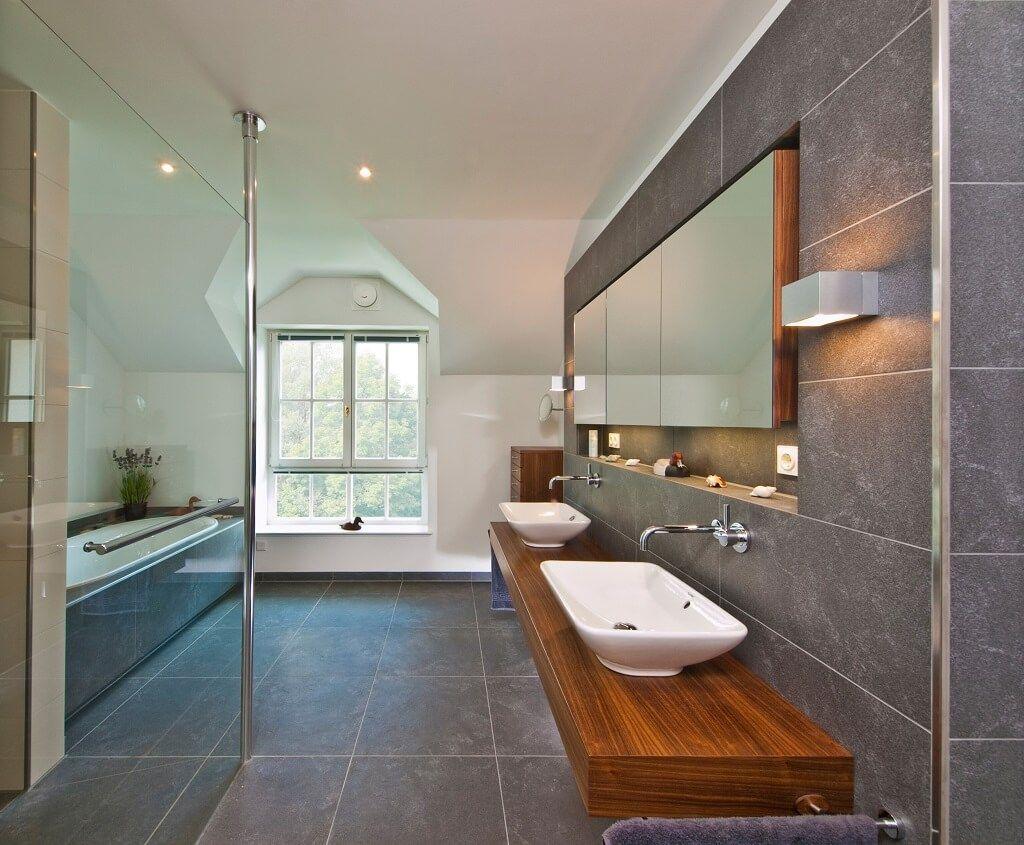 Landhausstil Badezimmer ~ Luxus badezimmer fliesen großformat grau inneneinrichung