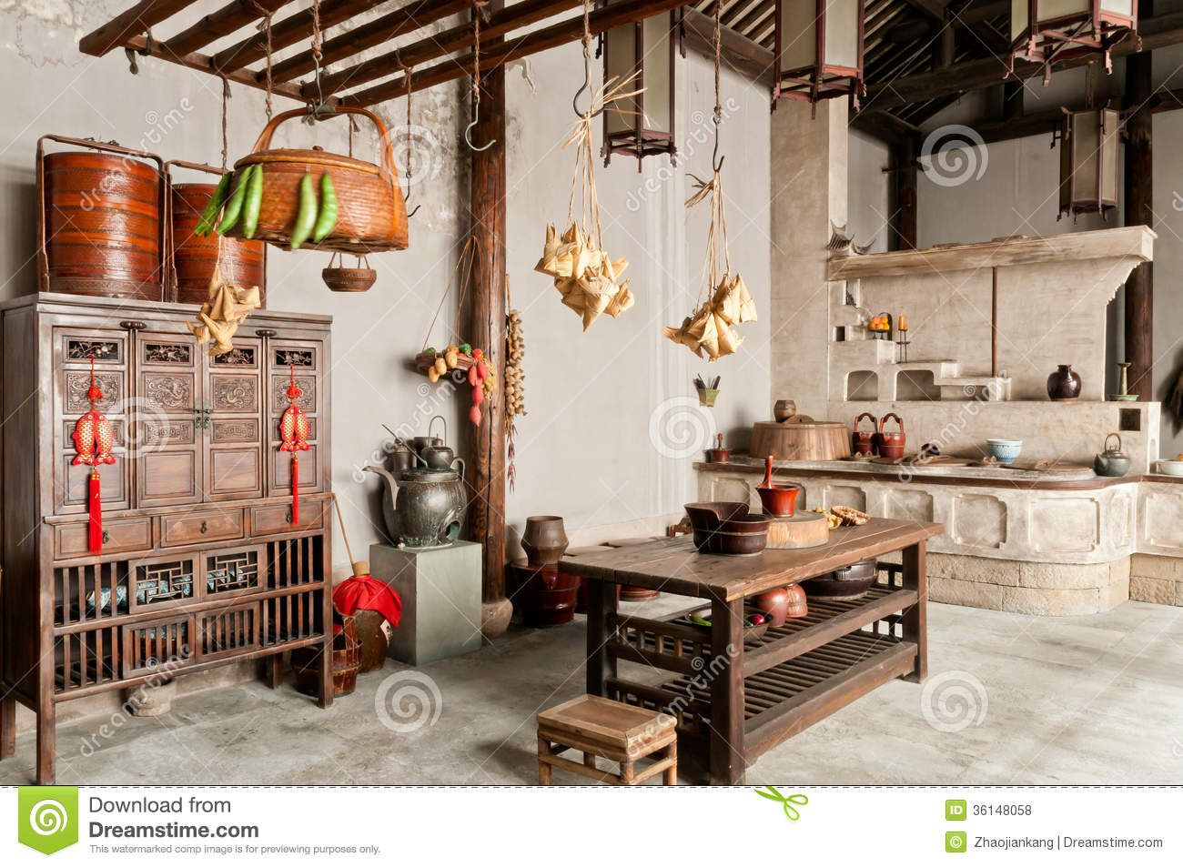 China Old Kitchen Furnishings   Download From Over 45 Million High Quality  Stock Photos, Images, Vectors. Sign Up For FREE Today. Image: 36148058