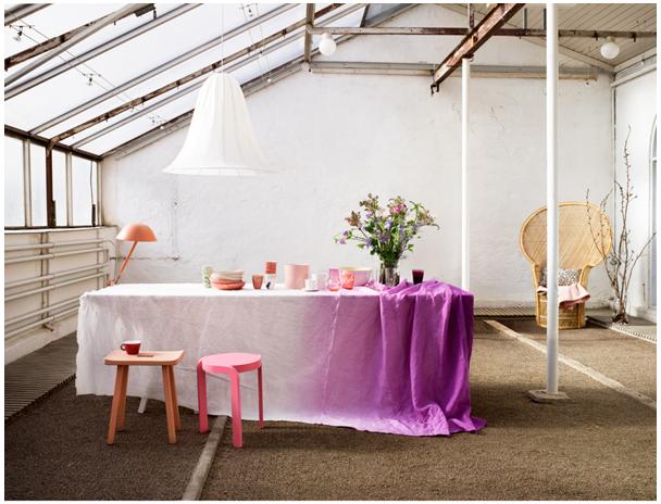 DIY dipdye tablecloth