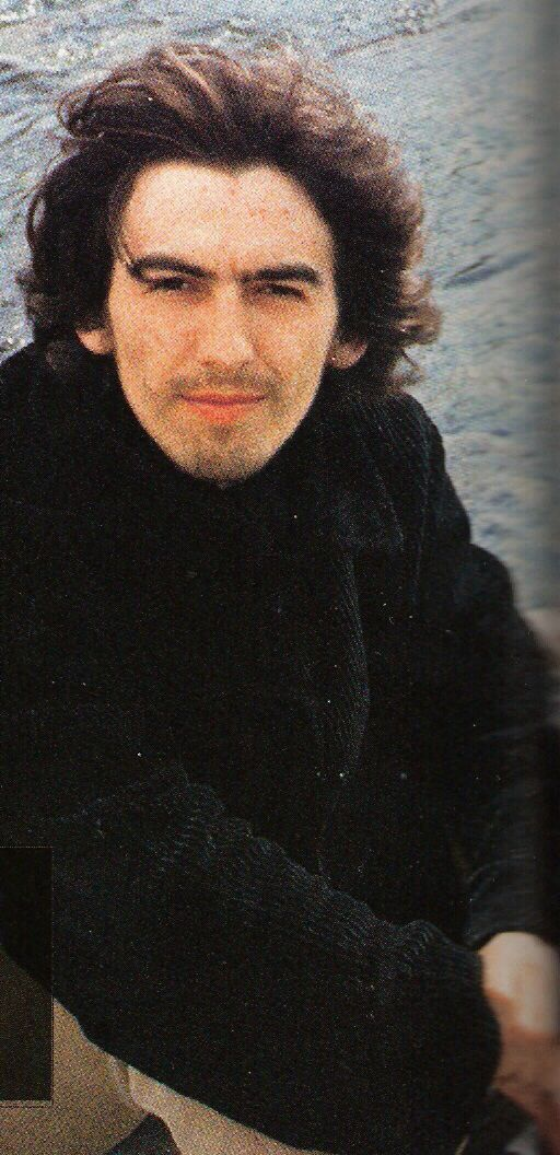 George in Rishikesh on the Ganges River Feb 1968