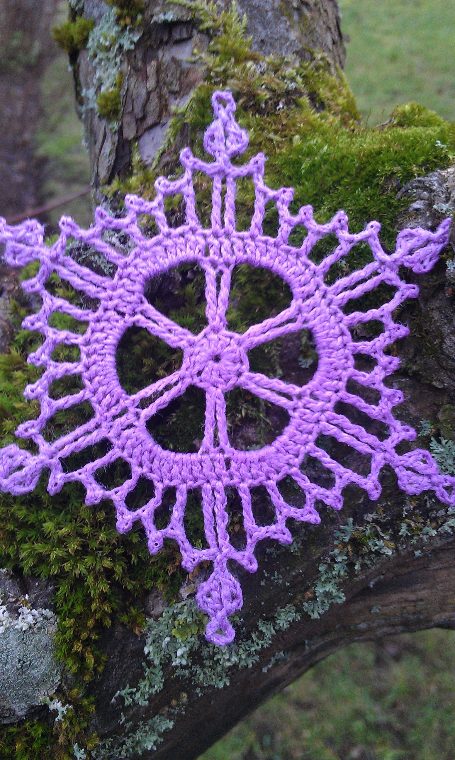 winter solstice snowflake   gehäkelte Schneeflocken, Stern häkeln ...
