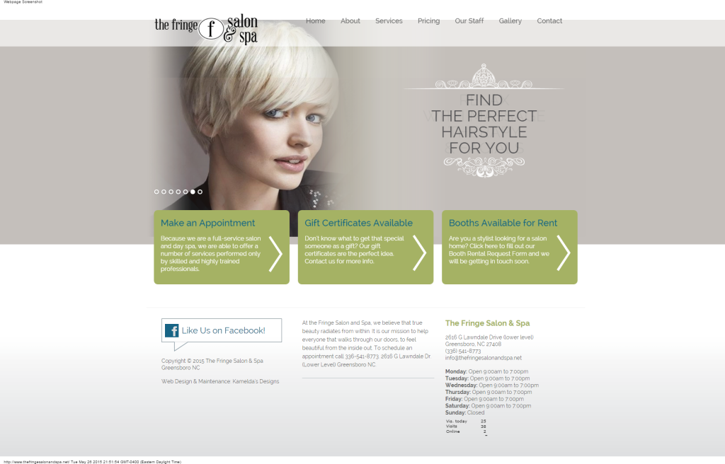 The Fringe Salon Spa Greensboro Nc Upscale Hair Salon Spa