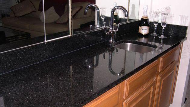 Best India Galaxy Black Granite Vanity Countertops Black