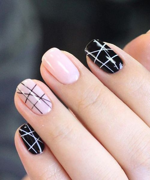 Incredible Geometric Nail Art Designs For Prom And Pedicure