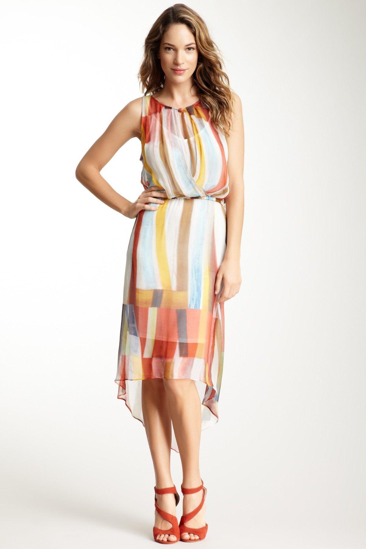 9f9c22b2 Plenty By Tracy Reese Hi-Lo Surplice Silk Dress | Vestuario-Outfits ...