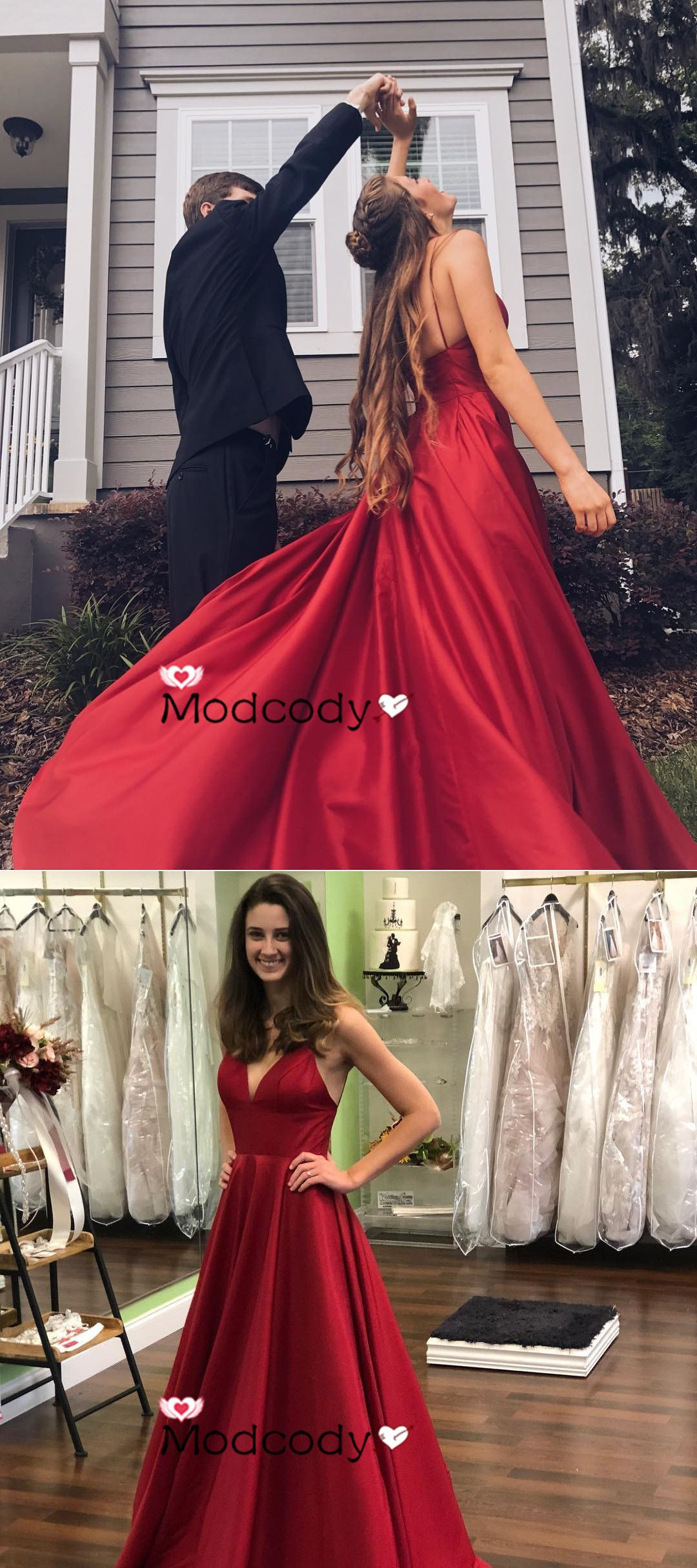 Gorgeous off the shoulder wine red long formal dress from modcody
