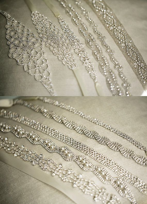 MARTINA Thin Crystal Beaded Bridal Belt Sash by lolaandmadison | K&F ...