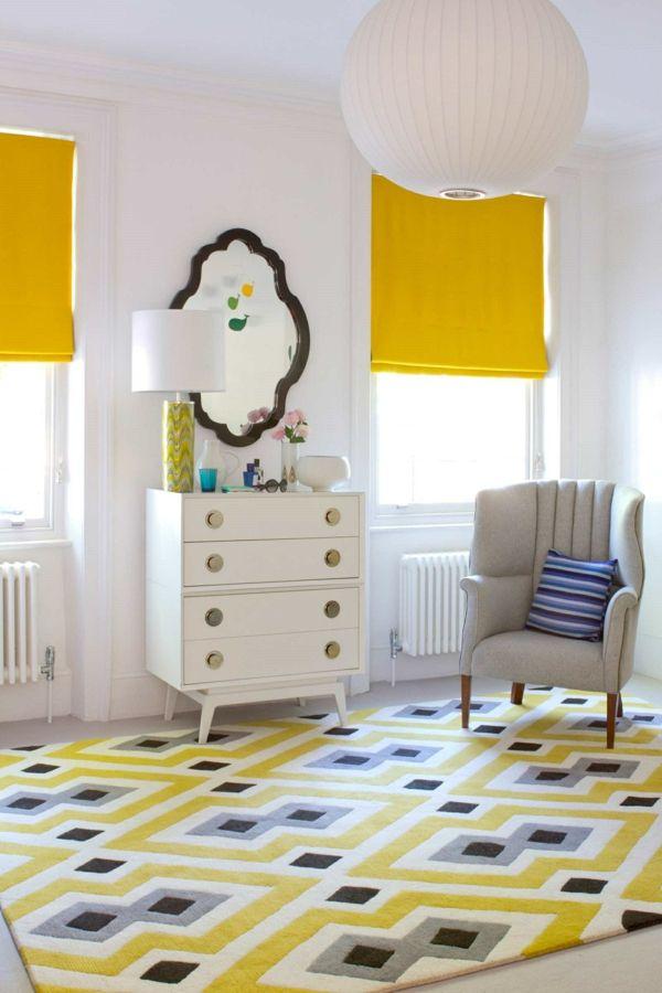 Bunte Teppiche im Innendesign - Designer Einrichtungslösungen - teppich wohnzimmer bunt